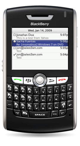 email on your blackberry